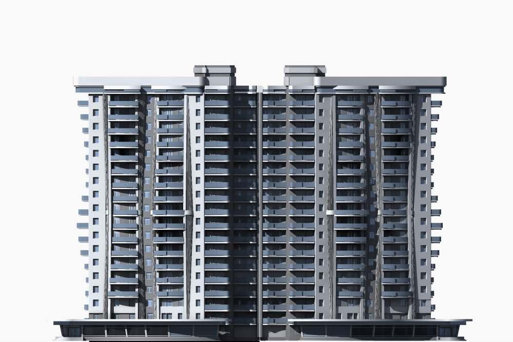 Многоквартирный жилой дом с подземным гаражом и помещениями соцкультбыта в уровне первого этажа