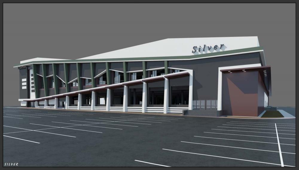 Варианты архитектурной пластики фасадов Торгового центра в г. Обнинске