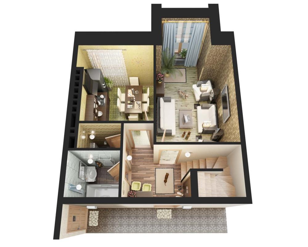 3D планы для жилого дома в г. Белоусово