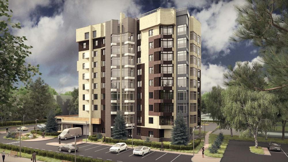Многоквартирный двухсекционный жилой дом с нежилыми помещениями в уровне первого этажа